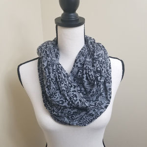 Marices Infinity Scarf Grey and Black